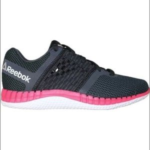 11 pink and black Reebok shoes sneakers